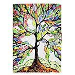 Недорогие -Кейс для Назначение Apple iPad 10.5 iPad (2017) Бумажник для карт со стендом Флип С узором Авто Режим сна / Пробуждение дерево Твердый