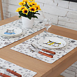 cheap -Ordinary Linen/Cotton Blend Square Placemat Table Decorations