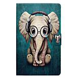 Недорогие -Кейс для Назначение Amazon Kindle Fire 7(5th Generation, 2015 Release) Бумажник для карт со стендом Флип С узором Чехол Слон Твердый Кожа
