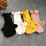 Недорогие -Собаки Толстовки Одежда для собак Уникальный дизайн Симпатичные Стиль Однотонный Белый Желтый Розовый Черный Костюм Для домашних животных