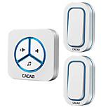 Недорогие -cacazi 9909 two to one doorbell беспроводной дверной звонок 48 мелодий музыкальный объем регулируемый us plug руководство пользователя