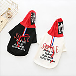cheap -Dogs Hoodie Dog Clothes Japan and Korea Style Trendy Quotes & Sayings Black White Costume For Pets