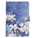 cheap -Case For Apple iPad Air 2 iPad 10.5 Card Holder Shockproof with Stand Flip Auto Sleep/Wake Up Full Body Cases Flower Hard PU Leather for