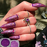 cheap -2pcs Glitter Powder Elegant & Luxurious Glitter & Sparkle Nail Art Tips