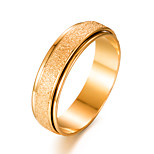 cheap -Men's Women's Band Ring Gold Gold Plated Circle Fashion Gift Gift Valentine Costume Jewelry