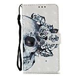 cheap -Case For Xiaomi Redmi 5 Redmi 5 Plus Card Holder Wallet with Stand Flip Magnetic Full Body Cases Skull Hard PU Leather for Xiaomi Redmi 5