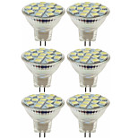 cheap -SENCART 6pcs 80W 5W 260 lm MR11 LED Spotlight MR11 15 leds SMD 5060 Decorative Warm White Cold White DC 12V