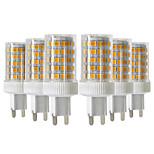 Недорогие -YWXLIGHT® 6шт 10W 900-1000 lm G9 Двухштырьковые LED лампы T 86 светодиоды SMD 2835 Диммируемая Тёплый белый Холодный белый Естественный