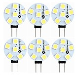 abordables -SENCART 6pcs 1.5W 60-80lm G4 Luces LED de Doble Pin T 6 Cuentas LED SMD 5050 Decorativa Blanco Cálido Blanco 12V