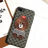 Недорогие -Кейс для Назначение Apple iPhone X iPhone 7 Plus С узором Кейс на заднюю панель Мультипликация Мягкий Кожа PU для iPhone X iPhone 8 Pluss