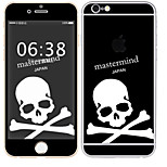 cheap -1 pc Skin Sticker for Scratch Proof Skull Pattern PVC iPhone 6s/6