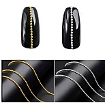 cheap -1 Nail Glitter Trim & Embellishments Metallic Punk Fashion Nail Art Design