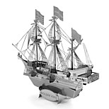 Недорогие -Golden Hind 3D пазлы Металлические пазлы Пиратский корабль Фокусная игрушка Ручная работа Металл 1pcs Подставка Море Игрушки Детские