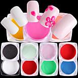 Недорогие -10pcs Порошок блеска блестит Мода Советы для ногтей Дизайн ногтей