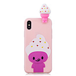 cheap -Case For Apple iPhone X iPhone 8 Shockproof Pattern DIY Back Cover Food 3D Cartoon Cartoon Soft TPU for iPhone X iPhone 8 Plus iPhone 8