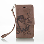 cheap -Case For Nokia Lumia 650 Lumia 640 Card Holder Wallet with Stand Flip Embossed Full Body Cases Solid Color Butterfly Hard PU Leather for