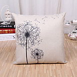 cheap -1 pcs Cotton/Linen Pillow Case Novelty Pillow Pillow Cover, Floral Fashion Novelty Flower Rustic