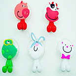 cheap -Hooks Toothbrush Multi-function Adjustable Easy to Use Self-adhesive Removable Cute Creative Cartoon Silicon Rubber PVC 1pc - Bathroom