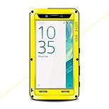 Недорогие -Кейс для Назначение Sony Xperia X Вода / Грязь / Надежная защита от повреждений Чехол Сплошной цвет Твердый Металл для Sony Xperia X