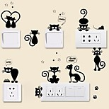 cheap -Animals Wall Stickers Plane Wall Stickers Decorative Wall Stickers Light Switch Stickers, Vinyl Home Decoration Wall Decal Switch Wall