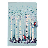 cheap -Case For Apple iPad Air 2 iPad 10.5 Card Holder Shockproof with Stand Flip Auto Sleep/Wake Up Full Body Cases Tree Hard PU Leather for