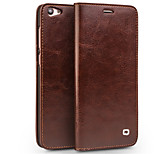 cheap -Case For Vivo vivo X7 Plus vivo X7 Card Holder Wallet Shockproof Flip Full Body Cases Solid Color Hard Genuine Leather for Vivo X7 Plus