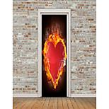 Недорогие -Геометрия Сердца Наклейки Простые наклейки 3D наклейки Декоративные наклейки на стены, Винил Украшение дома Наклейка на стену Холодильник