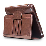 cheap -Case For Apple iPad Air Card Holder Shockproof with Stand Flip Full Body Cases Solid Color Hard Genuine Leather for iPad Air