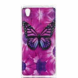 cheap -Case For Sony Xperia XA Xperia L1 Pattern Back Cover Butterfly Soft TPU for Xperia XZ1 Compact Sony Xperia XZ1 Sony Xperia XA1 Sony