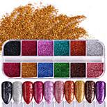cheap -1 Nail Glitter Glitter Powder Sparkle & Shine Nail Art Tips Nail Art Design