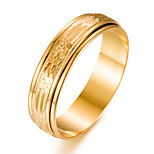 cheap -Men's Women's Band Ring Fashion Gift Gold Plated Circle Costume Jewelry Gift Valentine