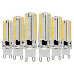 preiswerte -YWXLIGHT® 6pcs 7W 600-700 lm G9 LED Doppel-Pin Leuchten T 152 Leds SMD 3014 Abblendbar Warmes Weiß Kühles Weiß 110-130 V. 220V-240V
