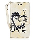 cheap -Case For Huawei P9 Lite P8 Lite (2017) Card Holder Wallet with Stand Flip Embossed Full Body Cases Solid Color Butterfly Hard PU Leather