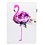 cheap -Case For Apple iPad 10.5 iPad (2017) Card Holder Shockproof with Stand Flip Auto Sleep/Wake Up Full Body Cases Flamingo Hard PU Leather