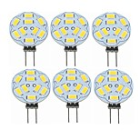 cheap -SENCART 6pcs 2W 360 lm G4 LED Bi-pin Lights T 9 leds SMD 5730 Decorative Warm White 12V