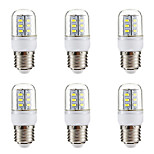 cheap -BRELONG® 6pcs 3W 270 lm E14 E26/E27 LED Corn Lights 24 leds SMD 5730 Warm White White 220-240V