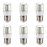economico -BRELONG® 6pcs 3W 270 lm E14 E26/E27 LED a pannocchia 24 leds SMD 5730 Bianco caldo Bianco 220V-240V