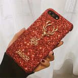 cheap -Case For Apple iPhone X iPhone 7 Plus Rhinestone Pattern Back Cover Glitter Shine Hard PC for iPhone X iPhone 8 Plus iPhone 8 iPhone 7