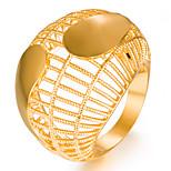 Недорогие -Жен. Кольцо Золотой Позолота Геометрической формы Мода Подарок Свадьба Подарок Бижутерия