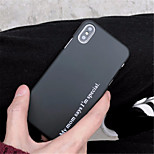 abordables -Funda Para Apple iPhone X iPhone 7 Plus Diseños Funda Trasera Palabra / Frase Dura ordenador personal para iPhone X iPhone 8 Plus iPhone