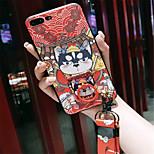 Недорогие -Кейс для Назначение Apple iPhone X iPhone 7 Plus С узором Кейс на заднюю панель Мультипликация Мягкий Силикон для iPhone X iPhone 8 Pluss