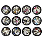 cheap -1 Ornaments Nail Glitter Metallic Floral Crystal Cute Glow Daily Nail Art Forms