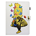 cheap -Case For Apple iPad 10.5 iPad Pro 9.7 Card Holder with Stand Flip Pattern Auto Sleep/Wake Up Full Body Cases Butterfly Sexy Lady Hard PU