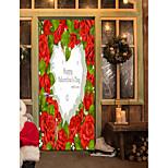 Недорогие -Натюрморт Сердца Наклейки Простые наклейки 3D наклейки Декоративные наклейки на стены Наклейки на холодильник, Винил Украшение дома