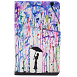 Недорогие -Кейс для Назначение Amazon Kindle Fire 7(5th Generation, 2015 Release) Бумажник для карт Защита от удара со стендом Флип Чехол Живопись