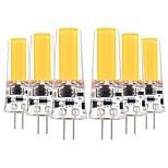 Недорогие -YWXLIGHT® 6шт 5 Вт. 400-500 lm G4 Двухштырьковые LED лампы T 1 светодиоды COB Декоративная Тёплый белый Холодный белый AC 12V DC 12-24V