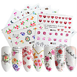 cheap -48 Stickers & Tapes Nail Sticker Flower Nail Art Design Sets DIY