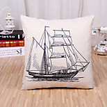 cheap -1 pcs Cotton/Linen Pillow Case Novelty Pillow Pillow Cover, Pattern Fashion Novelty Simple Classic Style