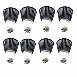abordables -8pcs 5.5W 6.5W 600 lm GU10 Spot LED 1 diodes électroluminescentes COB Blanc Chaud Blanc Froid 220-240V