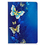 cheap -Case For Apple iPad 10.5 iPad (2017) Card Holder Wallet with Stand Pattern Auto Sleep/Wake Up Full Body Cases Butterfly Hard PU Leather
